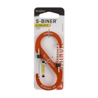 Nite Ize S-Biner SlideLock LSBA4-19-R6 Orange